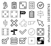 choice icons. set of 25... | Shutterstock .eps vector #1011858763