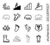 Walking Icons. Set Of 16...