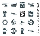 spin icons. set of 16 editable... | Shutterstock .eps vector #1011859447