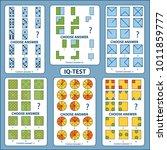 iq test. choose correct answer. ... | Shutterstock .eps vector #1011859777