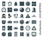 alarm icons. set of 36 editable ... | Shutterstock .eps vector #1011859903