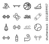 athletic icons. set of 16... | Shutterstock .eps vector #1011859957