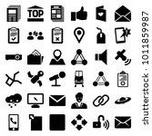 communication icons. set of 36... | Shutterstock .eps vector #1011859987