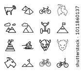 mountain icons. set of 16... | Shutterstock .eps vector #1011860137