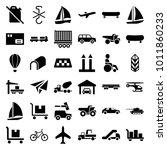 transportation icons. set of 36 ...