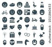 Happy Icons. Set Of 36 Editabl...