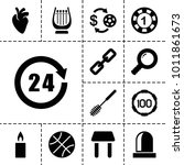 single icons. set of 13... | Shutterstock .eps vector #1011861673