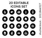 residential icons. set of 20... | Shutterstock .eps vector #1011866527