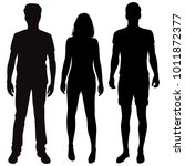 vector silhouettes of men and... | Shutterstock .eps vector #1011872377