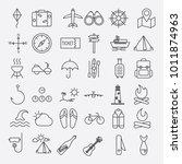 travel icon set | Shutterstock .eps vector #1011874963