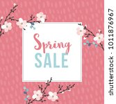 spring sale poster with... | Shutterstock .eps vector #1011876967