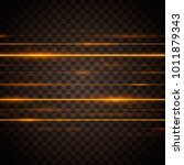 abstract yellow laser beams.... | Shutterstock .eps vector #1011879343