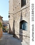 medieval street in the italian...   Shutterstock . vector #1011884233