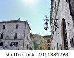 medieval street in the italian...   Shutterstock . vector #1011884293