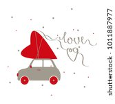 valentine's day card.  vector... | Shutterstock .eps vector #1011887977