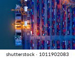containers yard in port... | Shutterstock . vector #1011902083