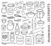 set of hand drawn outline... | Shutterstock .eps vector #1011906973