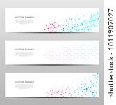 science and technology banners. ... | Shutterstock .eps vector #1011907027