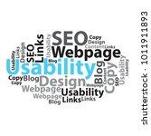 text cloud. seo wordcloud.... | Shutterstock .eps vector #1011911893