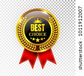 gold best choice label... | Shutterstock .eps vector #1011912007