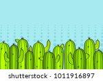 cacti. background. vector... | Shutterstock .eps vector #1011916897
