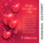 heart greeting card love red... | Shutterstock .eps vector #1011934897