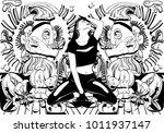 vector hand drawn illustration  ... | Shutterstock .eps vector #1011937147