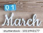 march 1st. day 1 of march month ...   Shutterstock . vector #1011943177