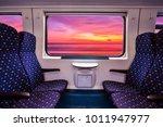empty interior of the train for ... | Shutterstock . vector #1011947977