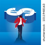 man carrying money to move... | Shutterstock .eps vector #1011948163