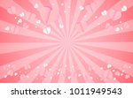 card valentine's day balloon... | Shutterstock .eps vector #1011949543