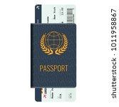 passport and airline passenger... | Shutterstock .eps vector #1011958867