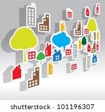 paper house vector background | Shutterstock .eps vector #101196307