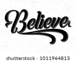 believe black and white hand... | Shutterstock .eps vector #1011964813