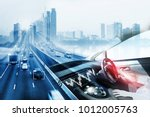 electric car or intelligent car....   Shutterstock . vector #1012005763