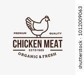 chicken   vector logo icon... | Shutterstock .eps vector #1012009063
