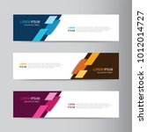 vector abstract banner design... | Shutterstock .eps vector #1012014727