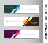 vector abstract banner design... | Shutterstock .eps vector #1012014733