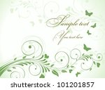 postcard green with butterflies ... | Shutterstock .eps vector #101201857