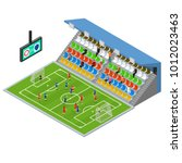 soccer stadium competition... | Shutterstock .eps vector #1012023463