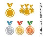 awards for best film. award...   Shutterstock .eps vector #1012028587