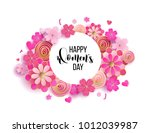 happy mother's day layout... | Shutterstock .eps vector #1012039987