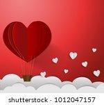 valentine card for showcase... | Shutterstock .eps vector #1012047157