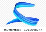 acrylic blue paint brush stroke.... | Shutterstock .eps vector #1012048747