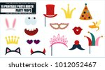 photo booth props collection... | Shutterstock .eps vector #1012052467
