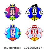 set of vector icons of people... | Shutterstock .eps vector #1012052617