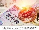 bitcoin payment using...   Shutterstock . vector #1012059547