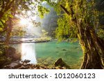 beautiful natural pools in... | Shutterstock . vector #1012060123