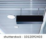 mock up black box blank signage ... | Shutterstock . vector #1012092403