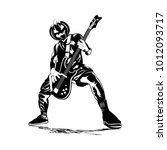 skull guitarist man   Shutterstock .eps vector #1012093717